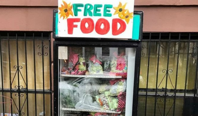 A Fridge Full Of Free Food Appeared In Brooklyn For New Yorkers In Need