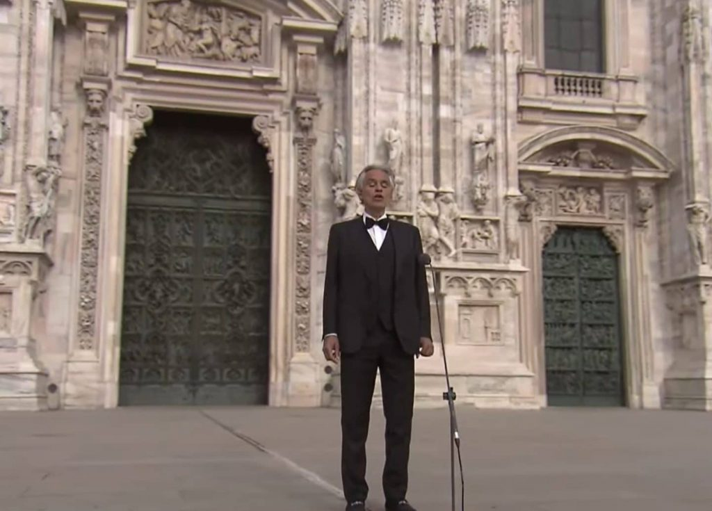 Watch: Andrea Bocelli's Awe-Inspiring Easter Concert In An Empty Milan Cathedral