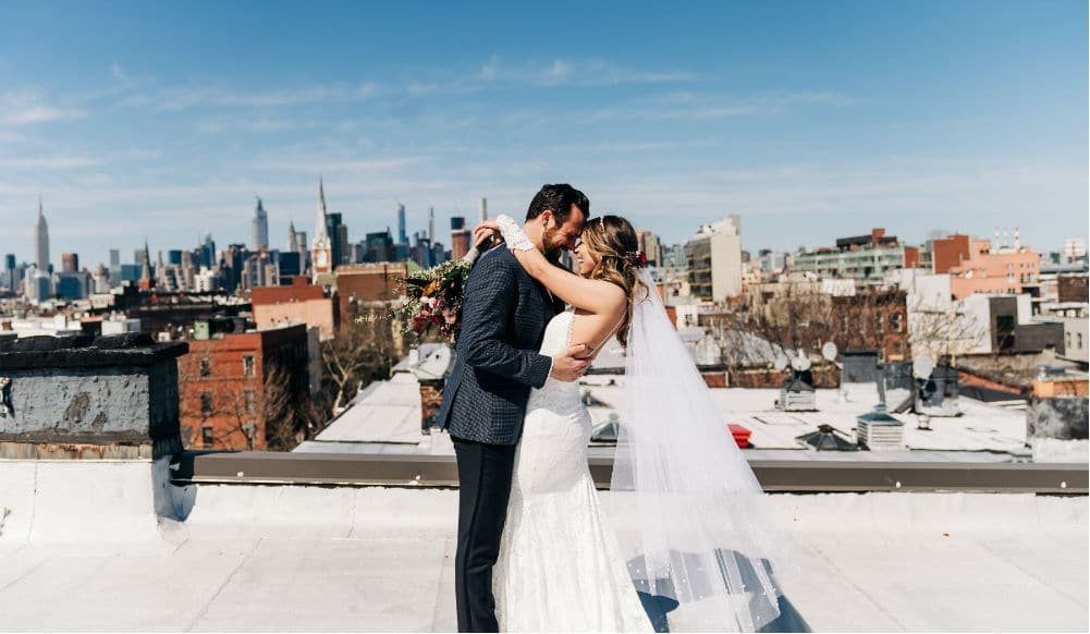 Love Prevails! How This Brooklyn Couple Had A Beautiful Rooftop Wedding During Quarantine