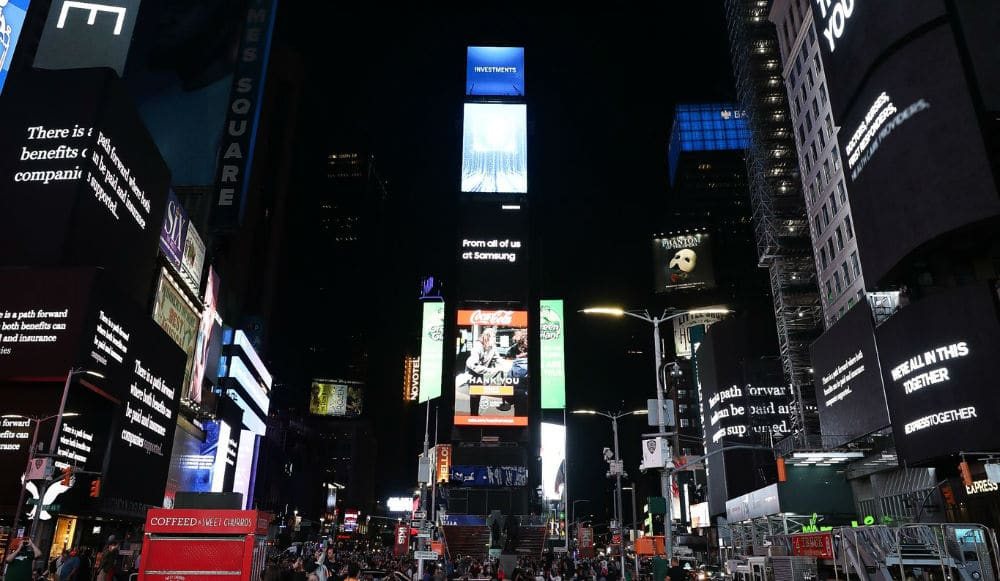 Watch: Times Square Went Dark Last Night In Solidarity With Local Business