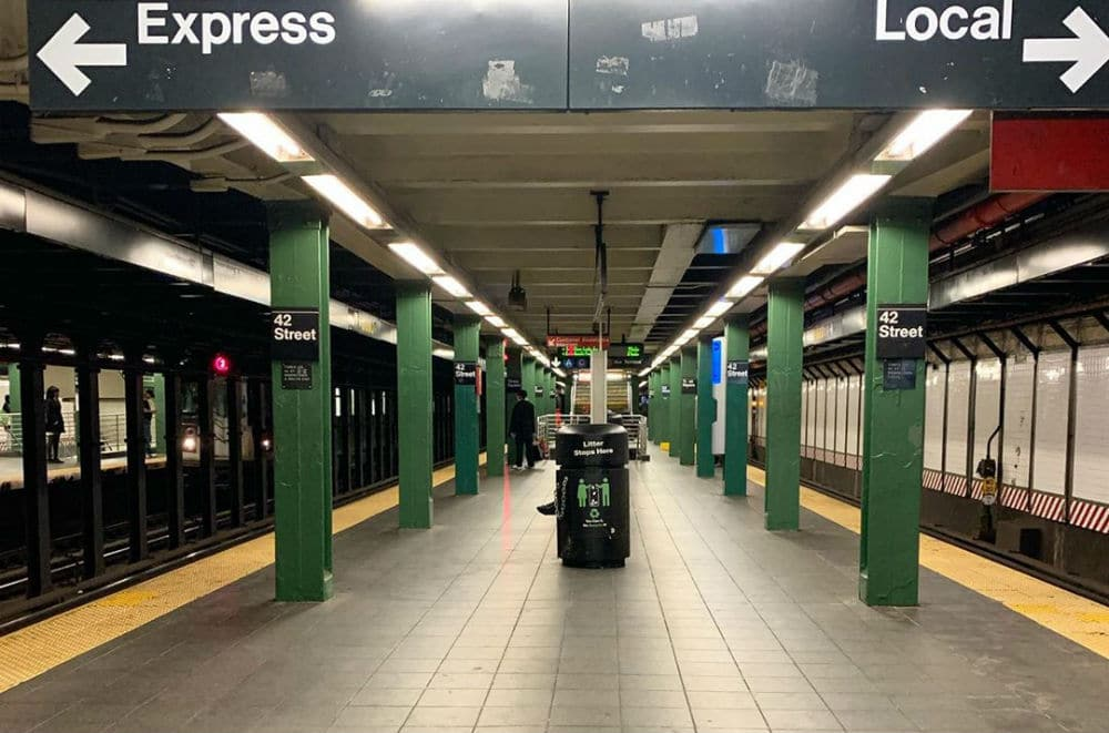 These 10 Poignant Photos Show Just How Empty NYC Subway Stations Are Right Now