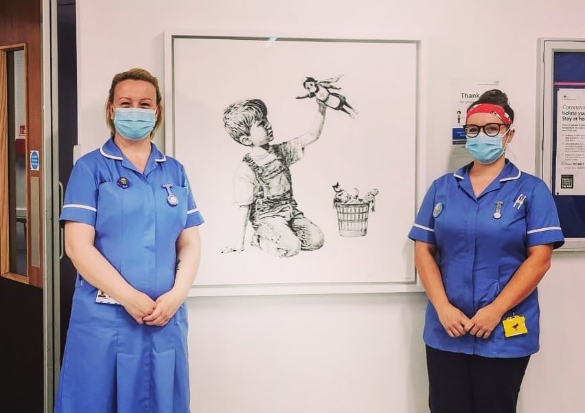 Banksy Has Painted A Touching New Tribute To Healthcare Workers