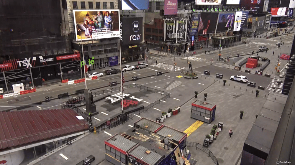 This Eerie Livestream Of Times Square Shows Just How Empty The NYC Hotspot Is