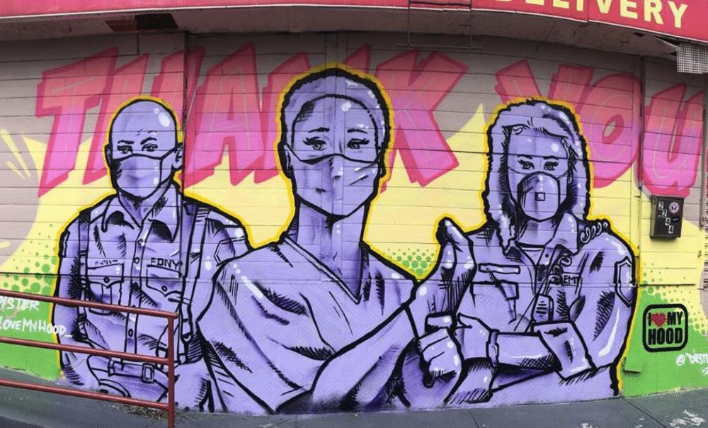 21 Amazing Coronavirus-Inspired Street Art Finds In NYC