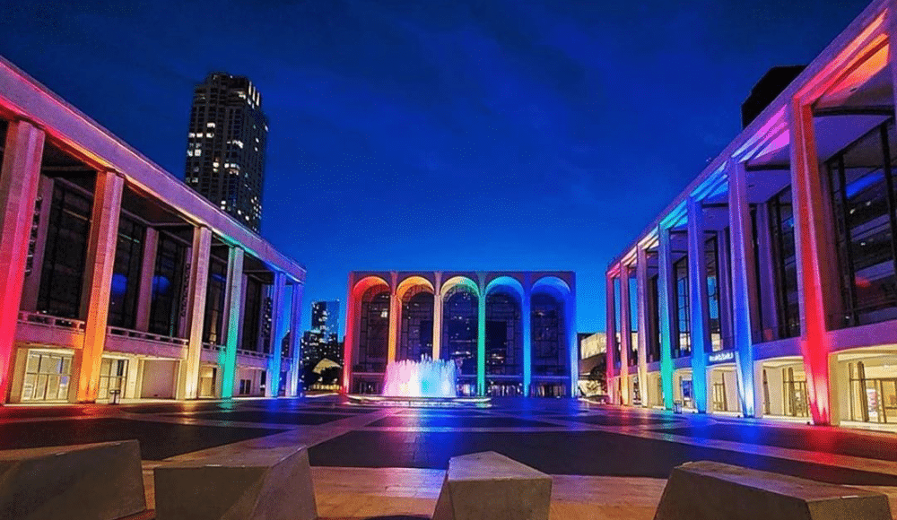 Lincoln Center Halloween Event 2020 NYC Landmarks Are Lighting Up In Rainbow Colors For 50 Years Of