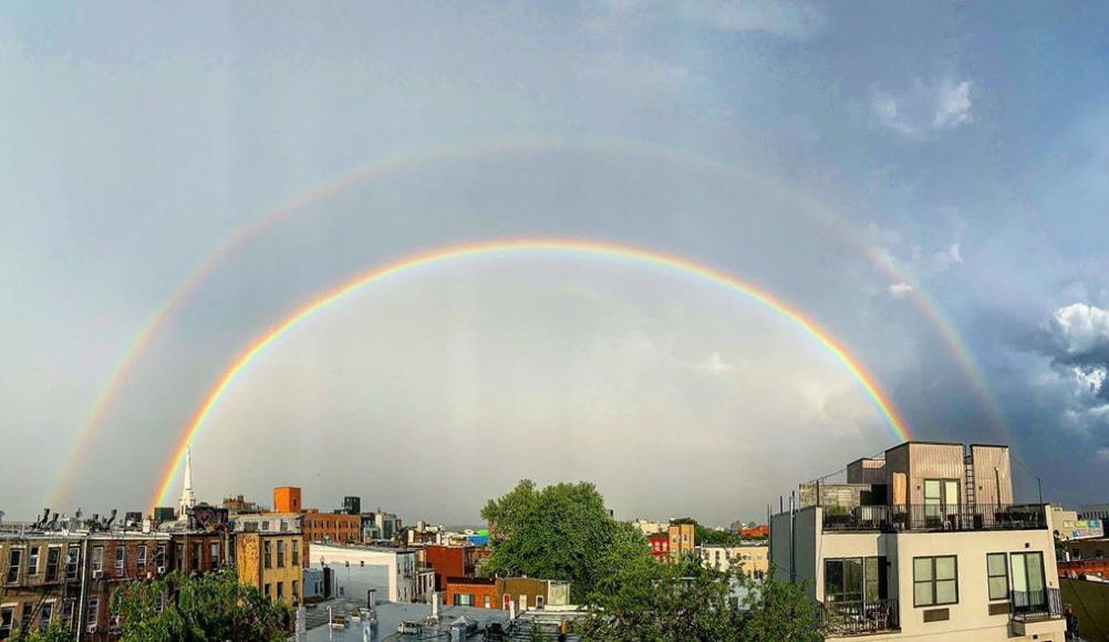A Stunning Double Rainbow Over NYC Was The Perfect End To Pride Weekend