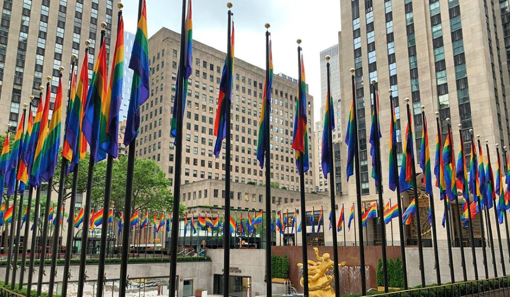 Rainbow Flags Have Taken Over The Rockefeller Center In Celebration Of Pride