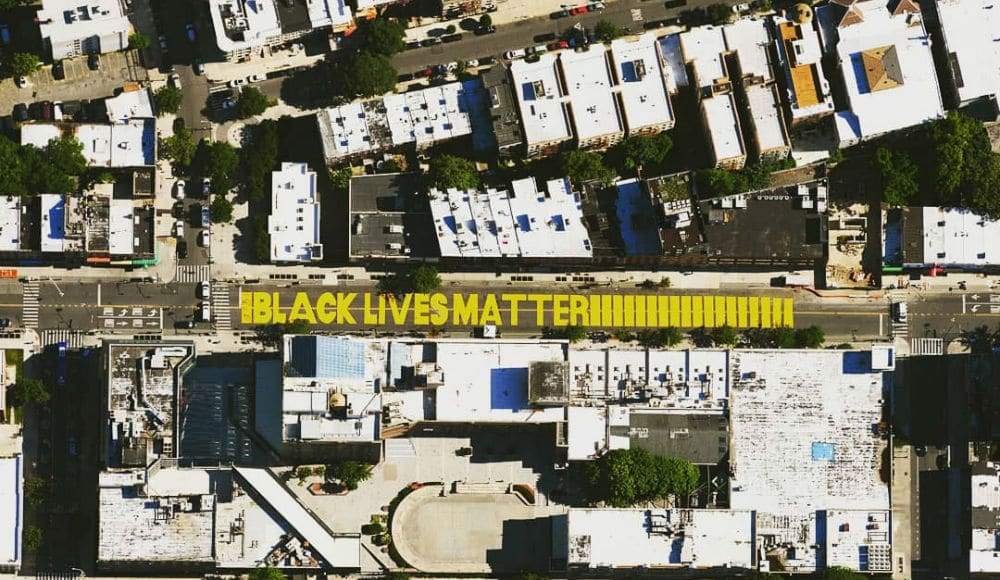 A Massive 'Black Lives Matter' Sign Was Just Painted By Volunteers On A Bed-Stuy Street