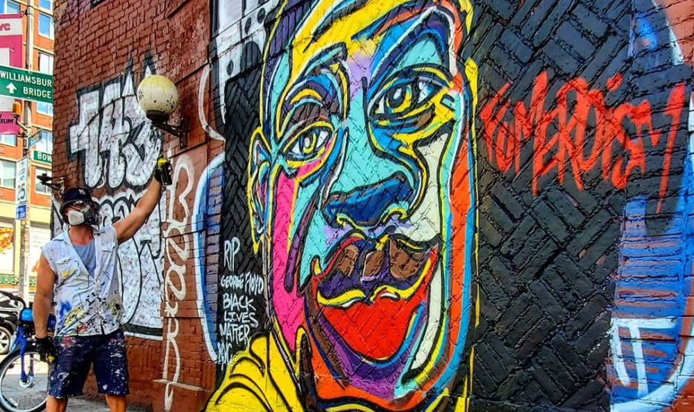 A Vibrant, Colorful Mural Of George Floyd Has Been Painted In The East Village
