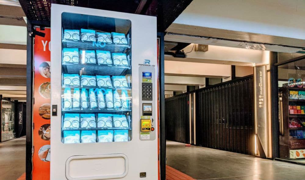 Face Mask Vending Machines Have Now Expanded To Columbus Circle