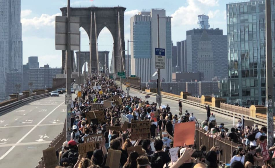 Over 20,000 New Yorkers Marched Across The Brooklyn Bridge This Weekend To Demand Justice
