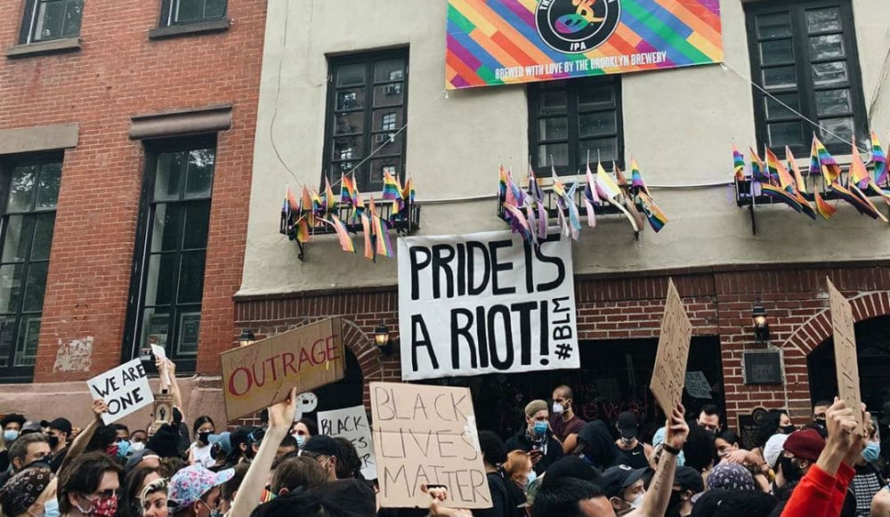 Pride Month And Black Lives Matter Join Forces At NYC's Stonewall Inn This Week