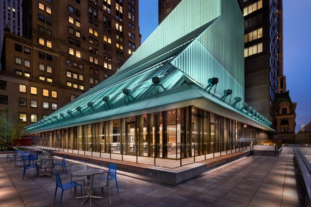This Gorgeous Rooftop Reading Nook Is Now Open At NYPL's New Midtown Branch