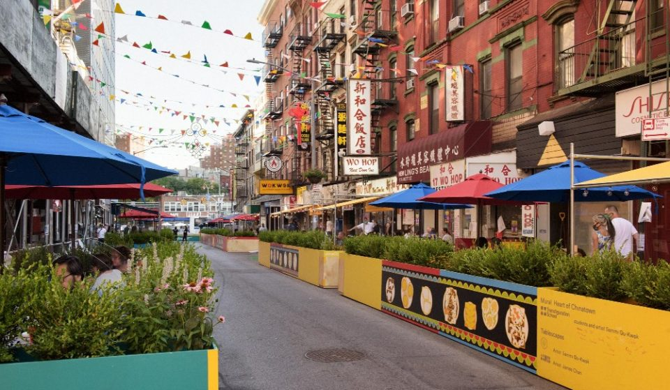 Chinatown's Iconic Mott Street Has An Amazing New Outdoor Dining Set-Up