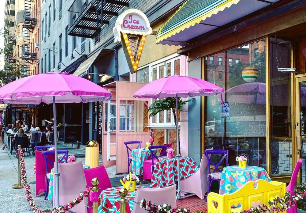 This UES Shoppe Has Turned Into An Adorable Outdoor Ice Cream Parlor • The UES