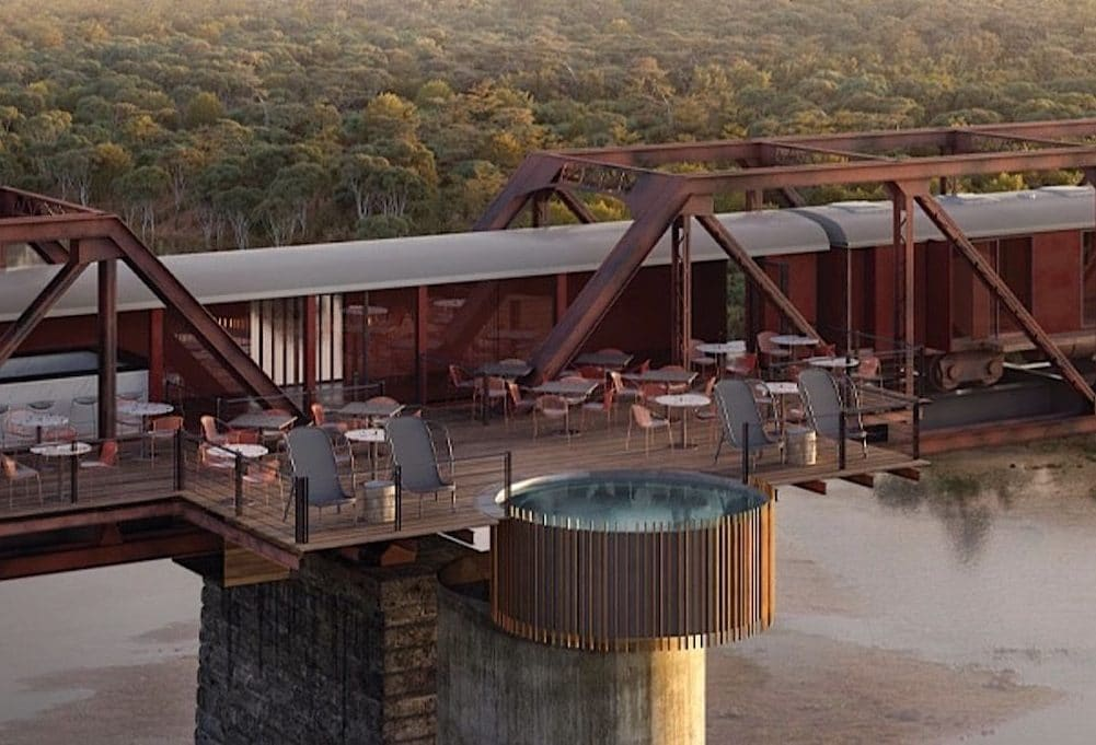 This Historic Train Is Now A Luxury Hotel Suspended Over A Park In South Africa