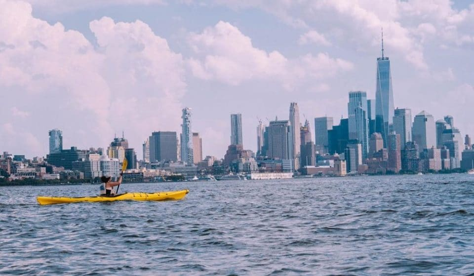 Summer Kayaking Is Back Open In NYC With Gorgeous Views Of The Manhattan Skyline