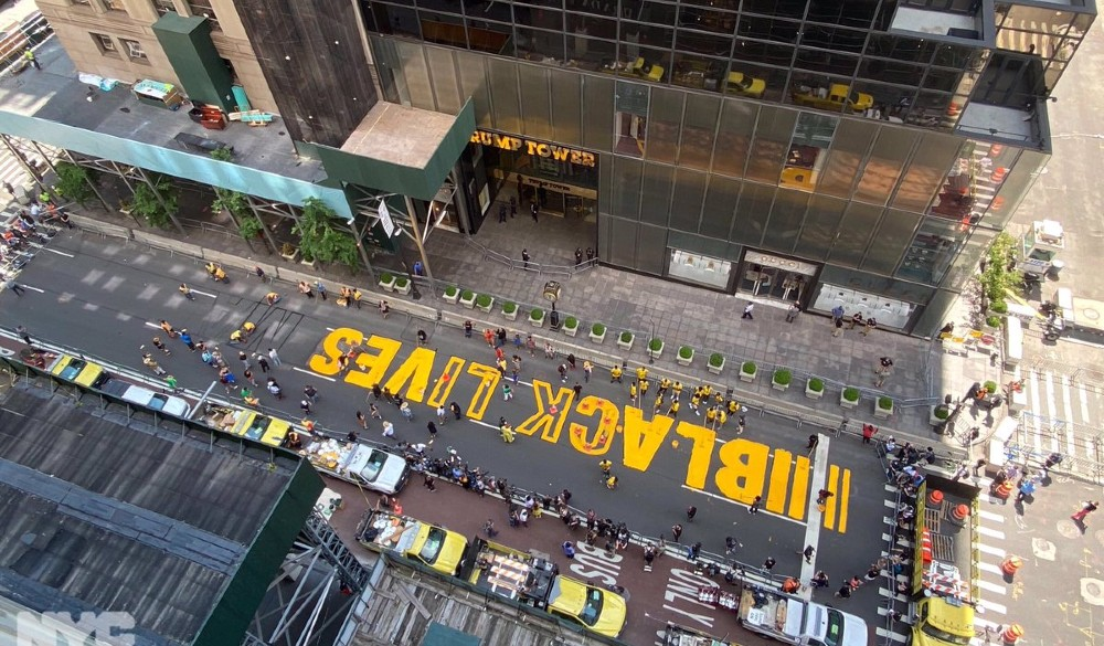 A Massive Black Lives Matter Mural Is Going Up Right In Front Of Trump Tower