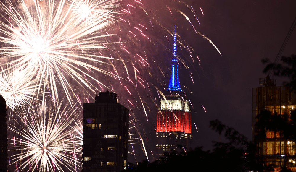 The Empire State Building Will Be Lit Up In Red, White, And Blue Tonight