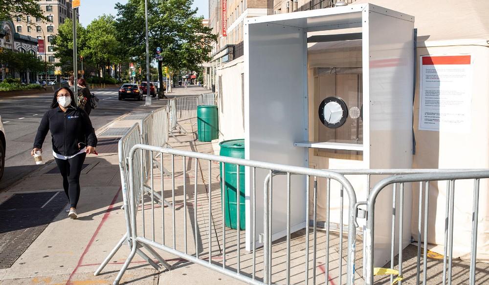 This Brooklyn Studio Has Designed Genius 'Walk-Thru' COVID-19 Testing Booths