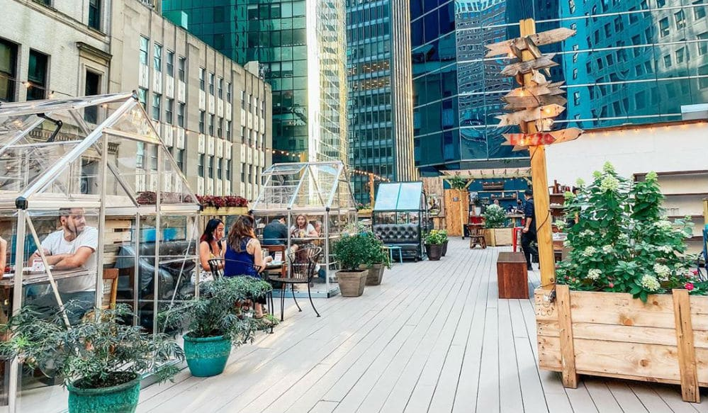 Dine In An Adorable Rooftop Greenhouse At This NYC Restaurant • Ampia Rooftop
