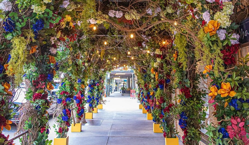 This NYC Italian Restaurant Has Transformed Into A Lush Floral Garden For Outdoor Dining