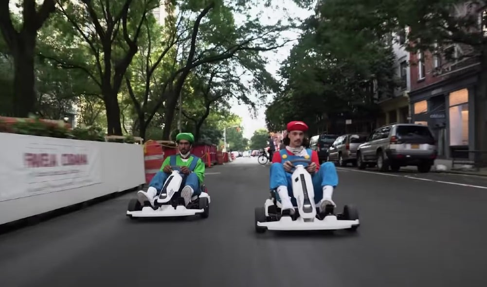 Watch This Hilarious Real-Life Mario Kart Race On The Streets Of NYC