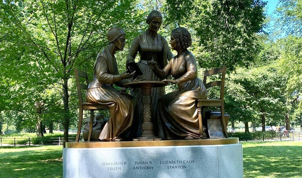 Central Park Unveils First-Ever Statue Honoring Women's Rights Leaders, After 167 Years