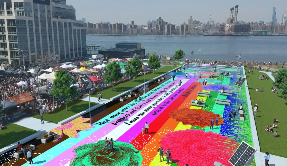 Colorful New Design Of Marsha P. Johnson State Park Brings Pride To Brooklyn Waterfront