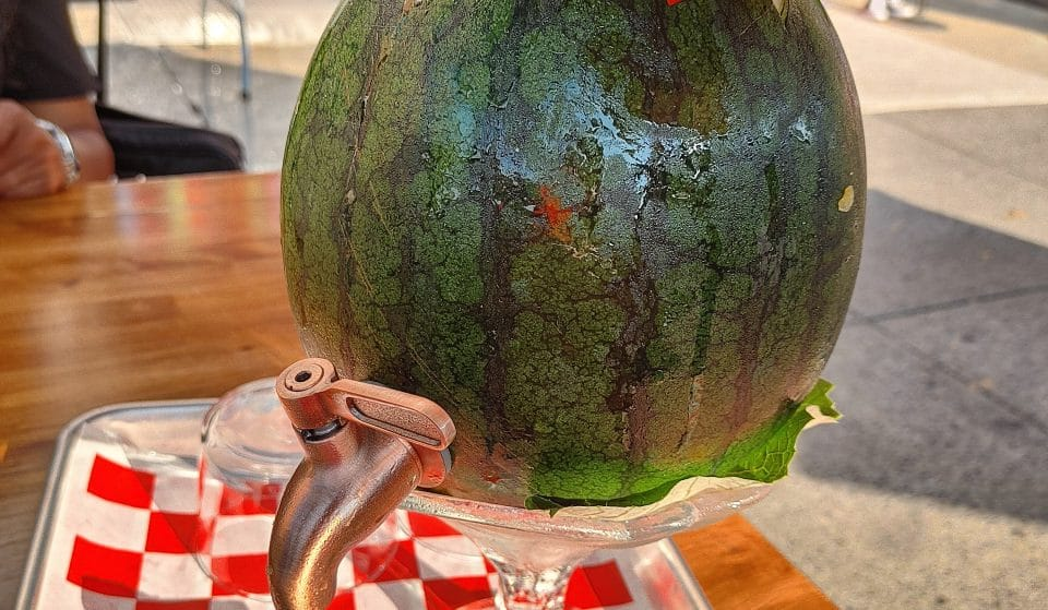 This Brooklyn Restaurant Serves A Giant Summer Cocktail In Your Very Own Watermelon • Olmsted