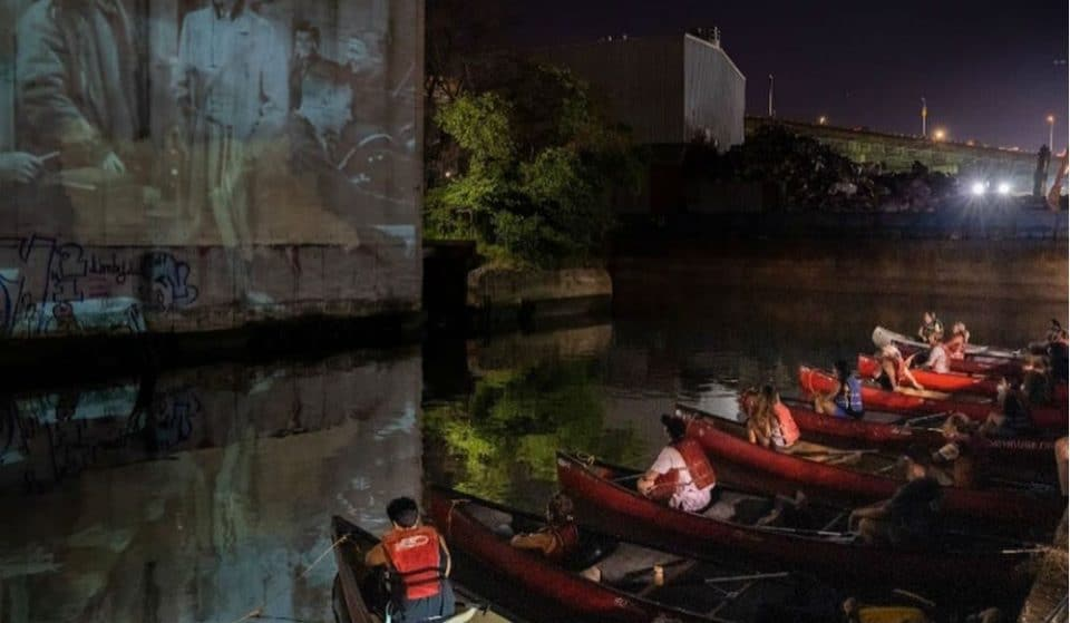 You Can Paddle Out To A Moonlit Floating Cinema In Brooklyn This Summer
