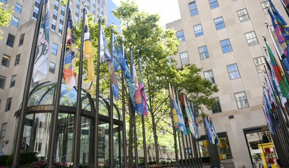 Jeff Koons & 192 Other NYers Designed Colorful New Flags For Rockefeller Center Installation