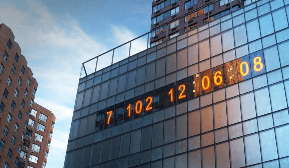 The Massive Clock In Union Square Is Now Counting Down Until Climate Change Disaster