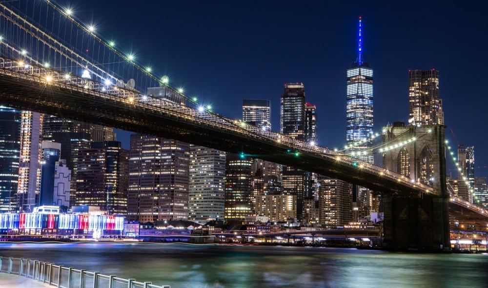 See NY Landmarks Light Up Blue Last Night For Ruth Bader Ginsburg