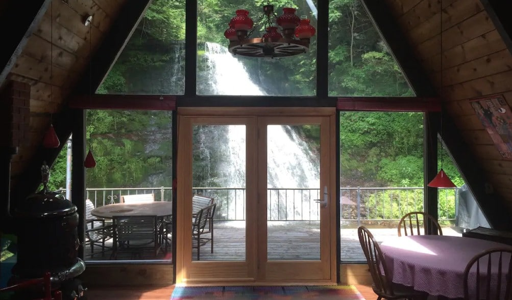 Sleep Next To A Waterfall At This Stunning Airbnb In Upstate New York