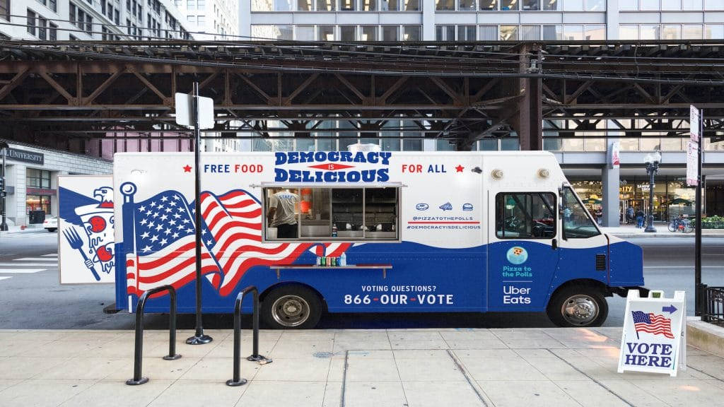 NYers Can Get Free Pizza While Waiting In Line To Vote Thanks To This Non-Profit