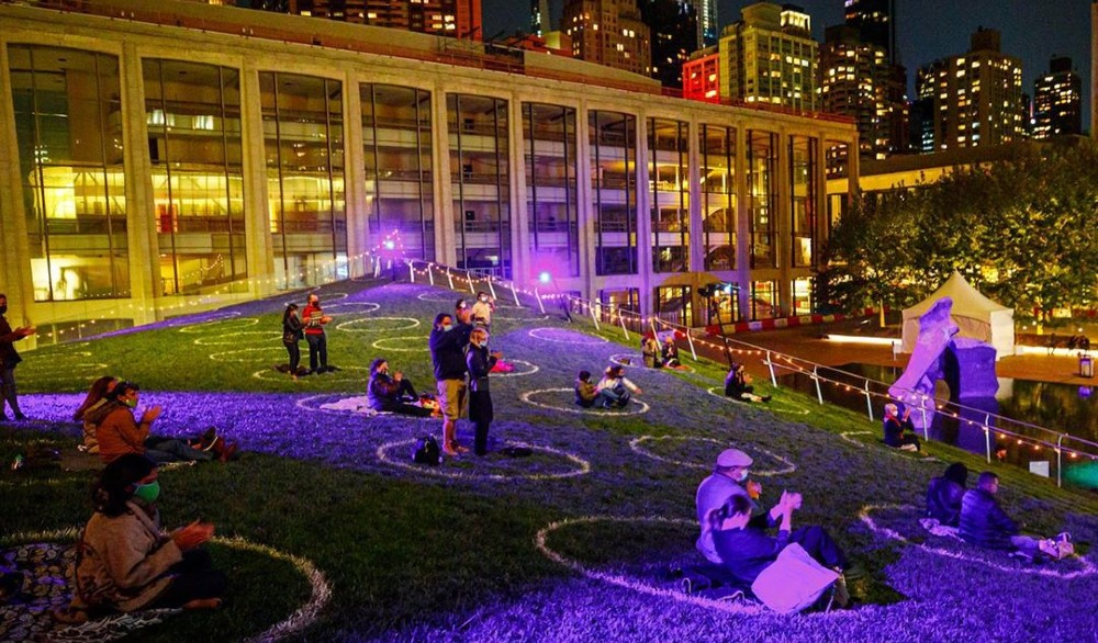 Lincoln Center Is Now Hosting Magical Music Performances On Its Iconic Sloping Lawn