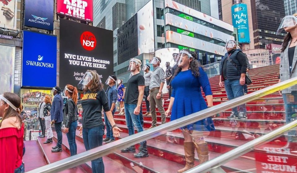 Broadway Singers Unite In Times Square For First Time Since March In Moving Performance