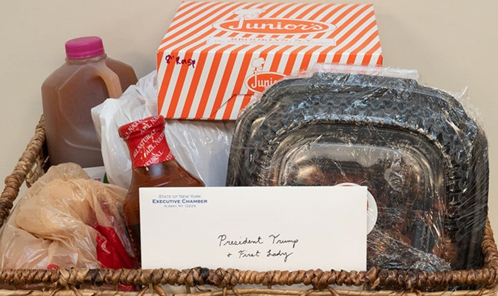 Cuomo Sends President & First Lady 'New York Cares' Package With Classic NY Goods
