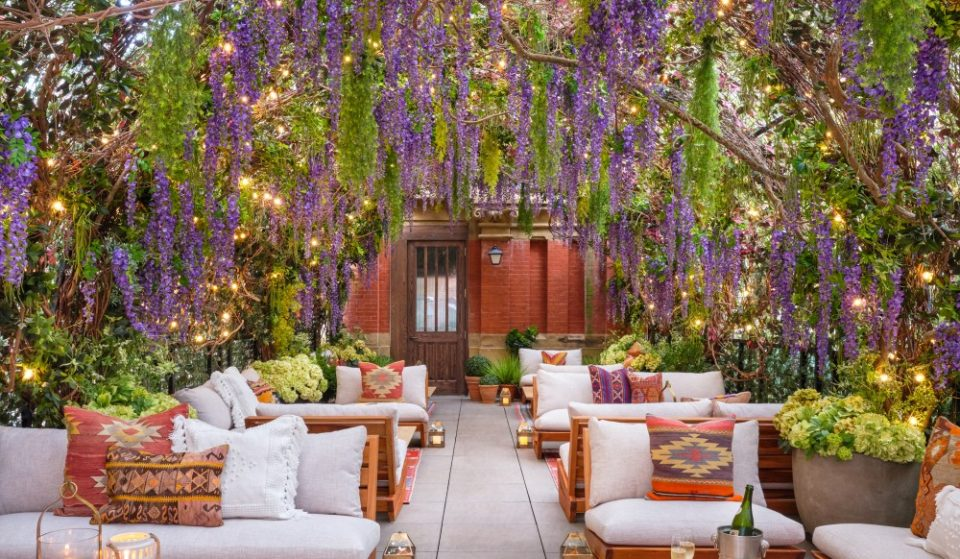 Dine Under A Canopy Of Flowers At This Hidden Romantic Terrace Restaurant In NYC