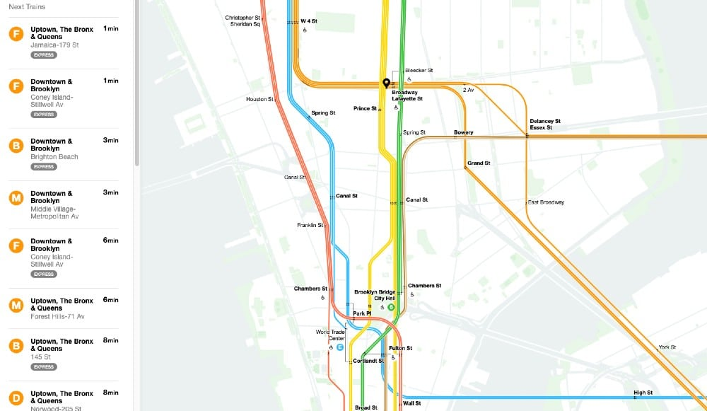 The MTA's First-Ever 'Live Subway Map' Lets You Track Any Train In Real Time