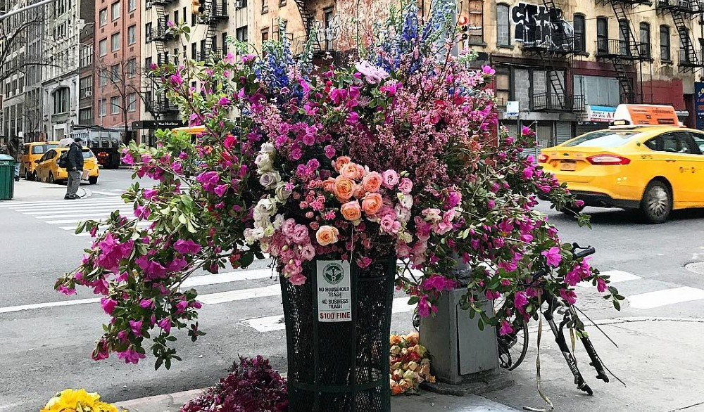 A Gorgeous Pink 'Flower Flash' Is Taking Over Herald Square Tomorrow