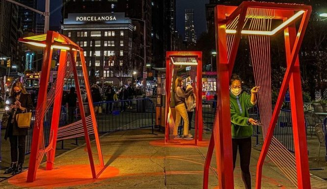 Stroll Through These Glowing 'Spotlights' At Flatiron's New Socially Distant Holiday Art Installation