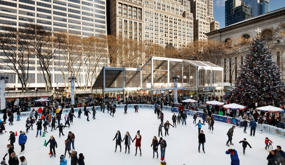 The Ice Rink At Bryant Park's Winter Village Is Now Open