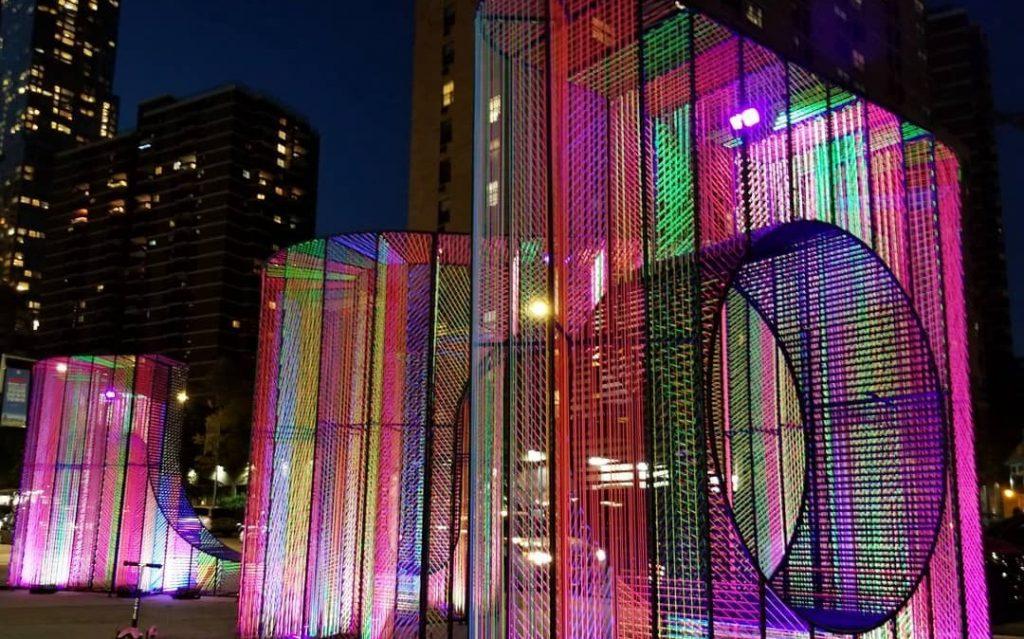 Stroll Through A Kaleidoscope Of Neon Lights At This Art Installation In Downtown Manhattan