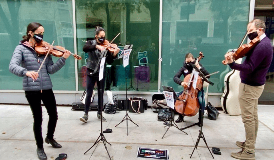 The Met Opera Orchestra Played For NYC Voters While They Stood On Line At The Polls Yesterday