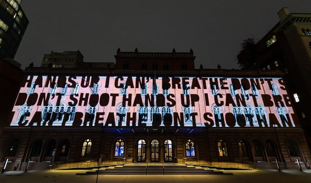 This New Light Installation In Lower Manhattan Is Dedicated To Black Lives Lost To Police Brutality