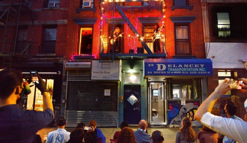 This Lower East Side Musician Has Been Giving Incredible Concerts From Her Fire Escape