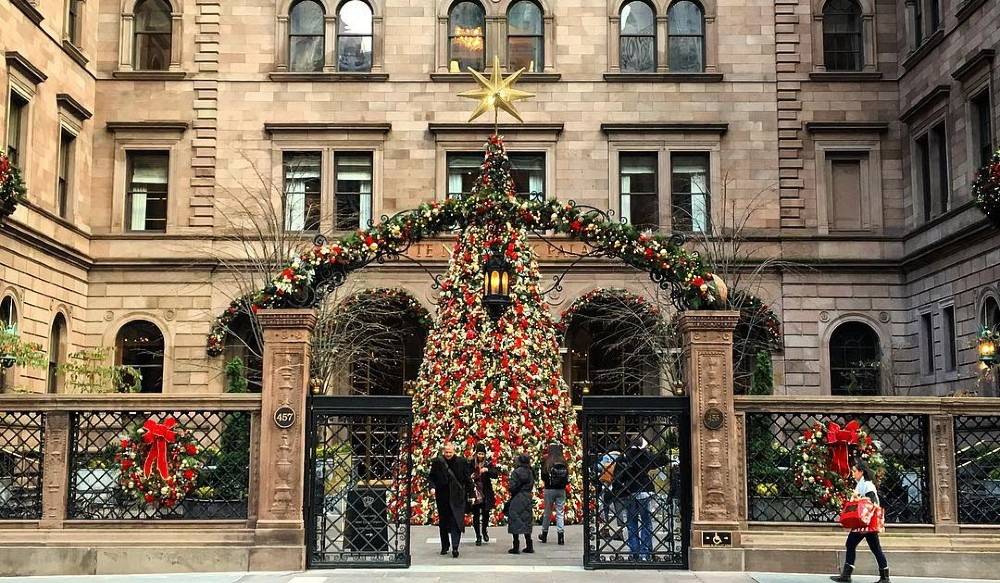 A First Look At The Magnificent Holiday Decorations Already Appearing In NYC