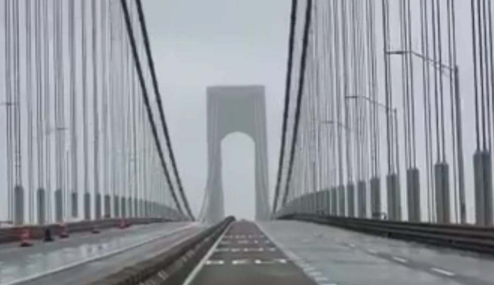 This Video Shows The Verrazano Bridge Intensely Swaying In Yesterday's High Winds